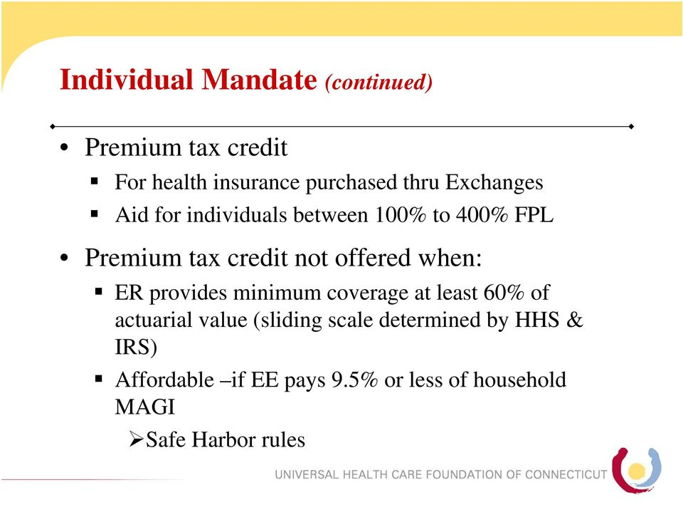 when: ER provides minimum coverage at least 60% of actuarial value (sliding scale