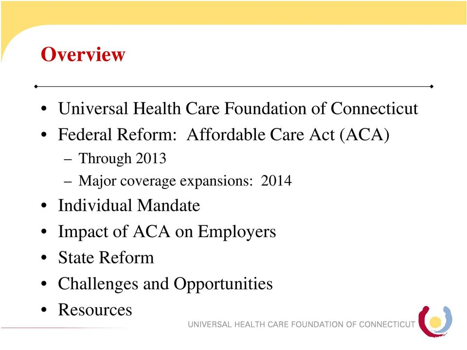 coverage expansions: 2014 Individual Mandate Impact of ACA