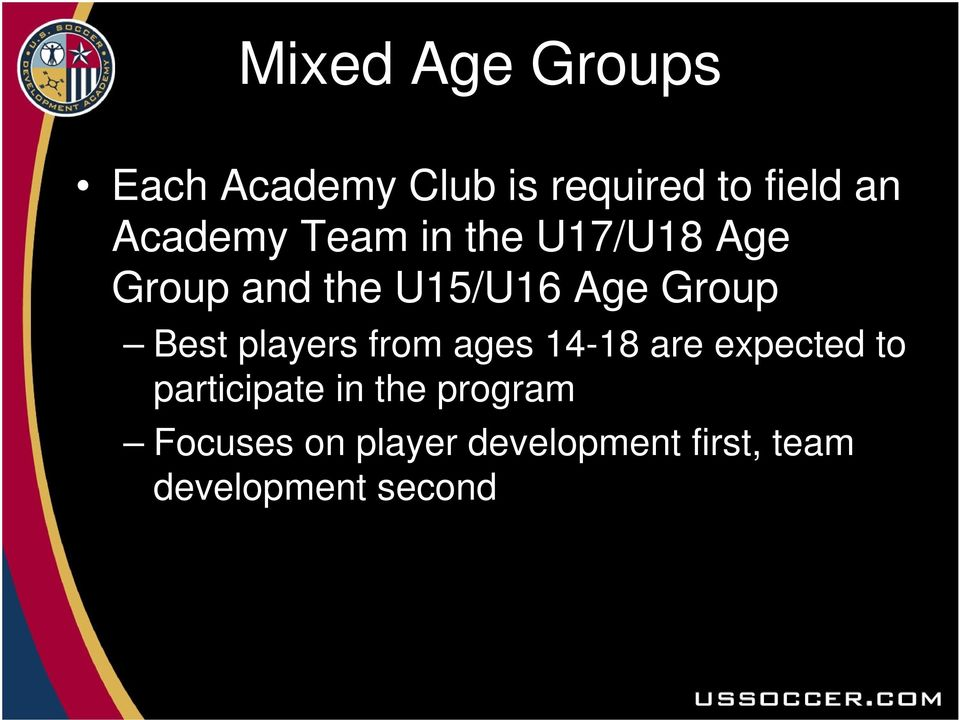 Best players from ages 14-18 are expected to participate in the