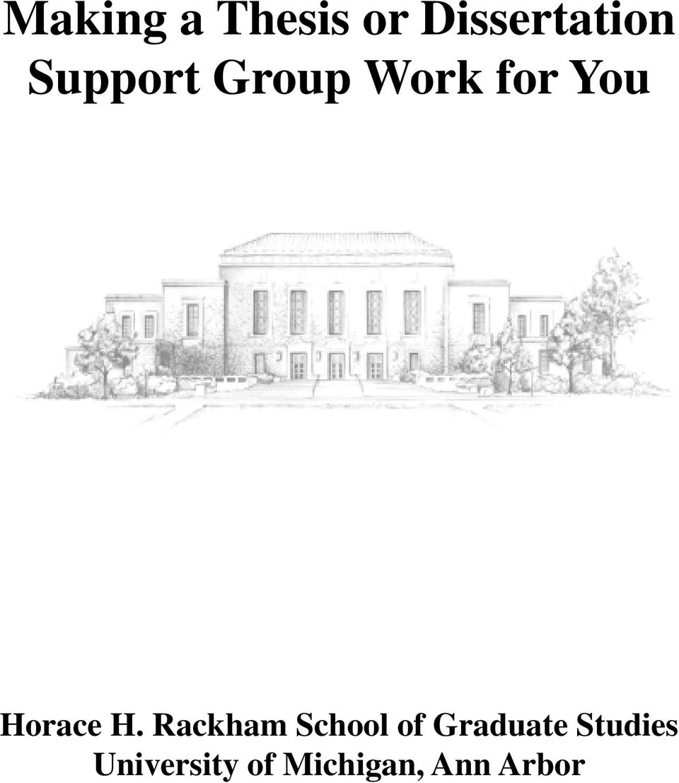 H. Rackham School of Graduate