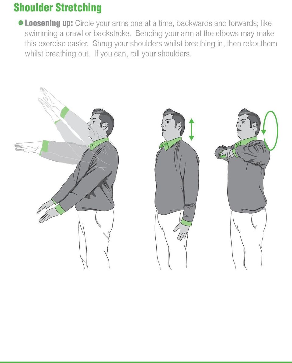 Bending your arm at the elbows may make this exercise easier.