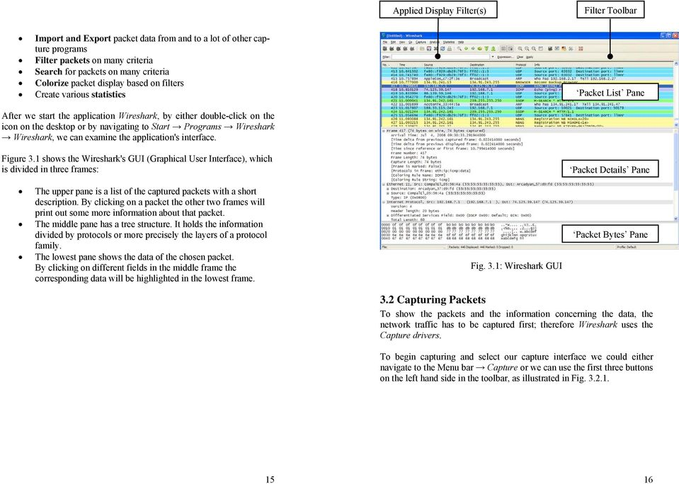 Wireshark Wireshark, we can examine the application's interface. Figure 3.