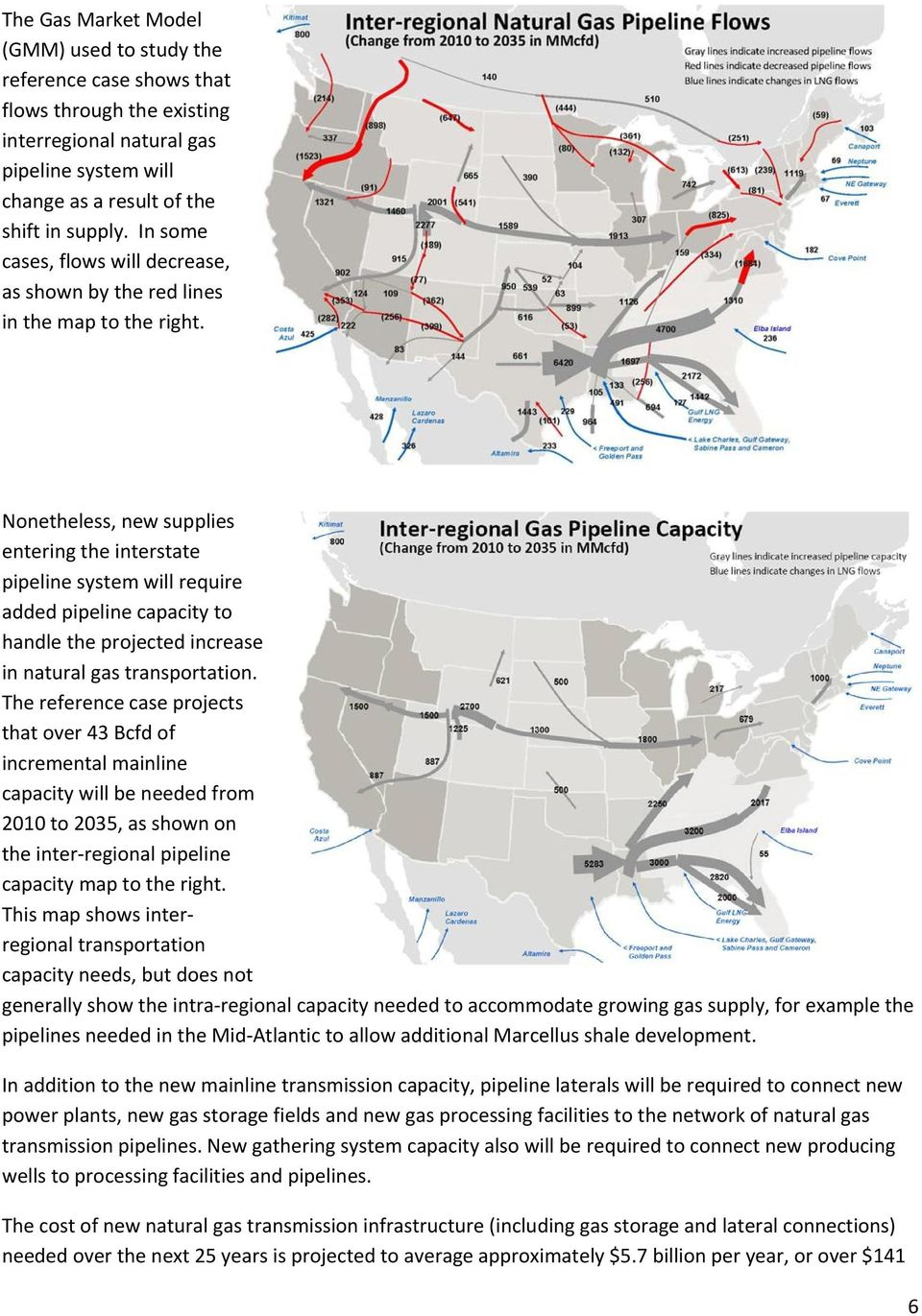 Nonetheless, new supplies entering the interstate pipeline system will require added pipeline capacity to handle the projected increase in natural gas transportation.