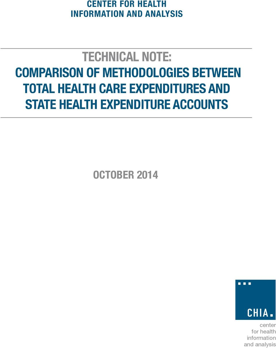 between Total Health Care Expenditures and