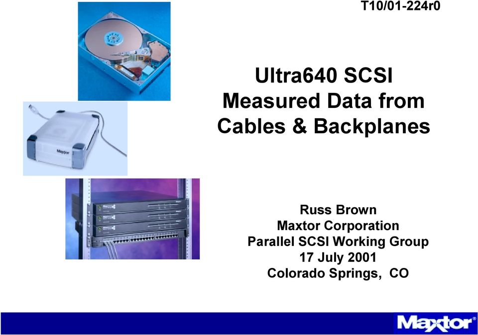 Brown Maxtor Corporation Parallel SCSI