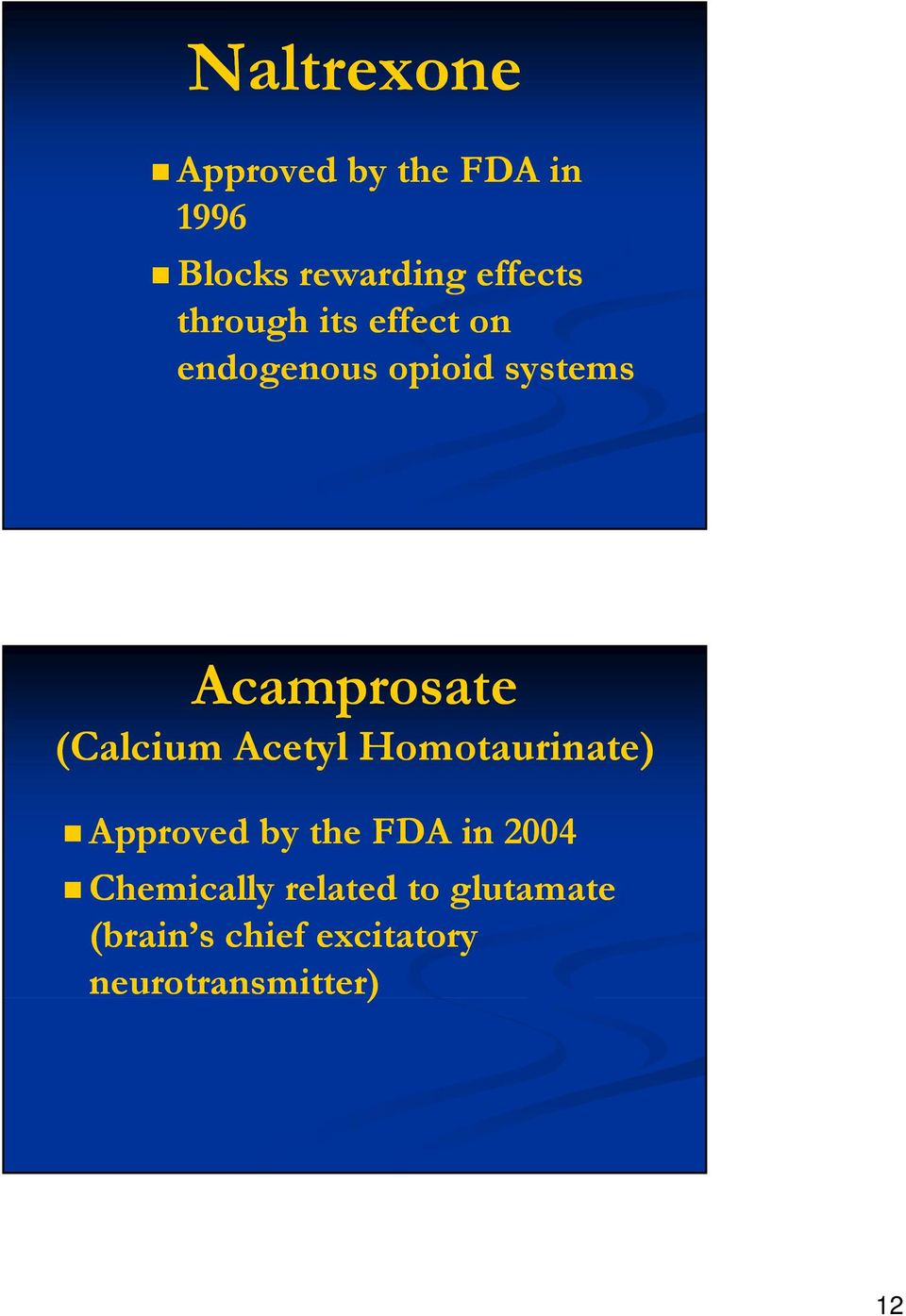 (Calcium Acetyl Homotaurinate) Approved by the FDA in 2004