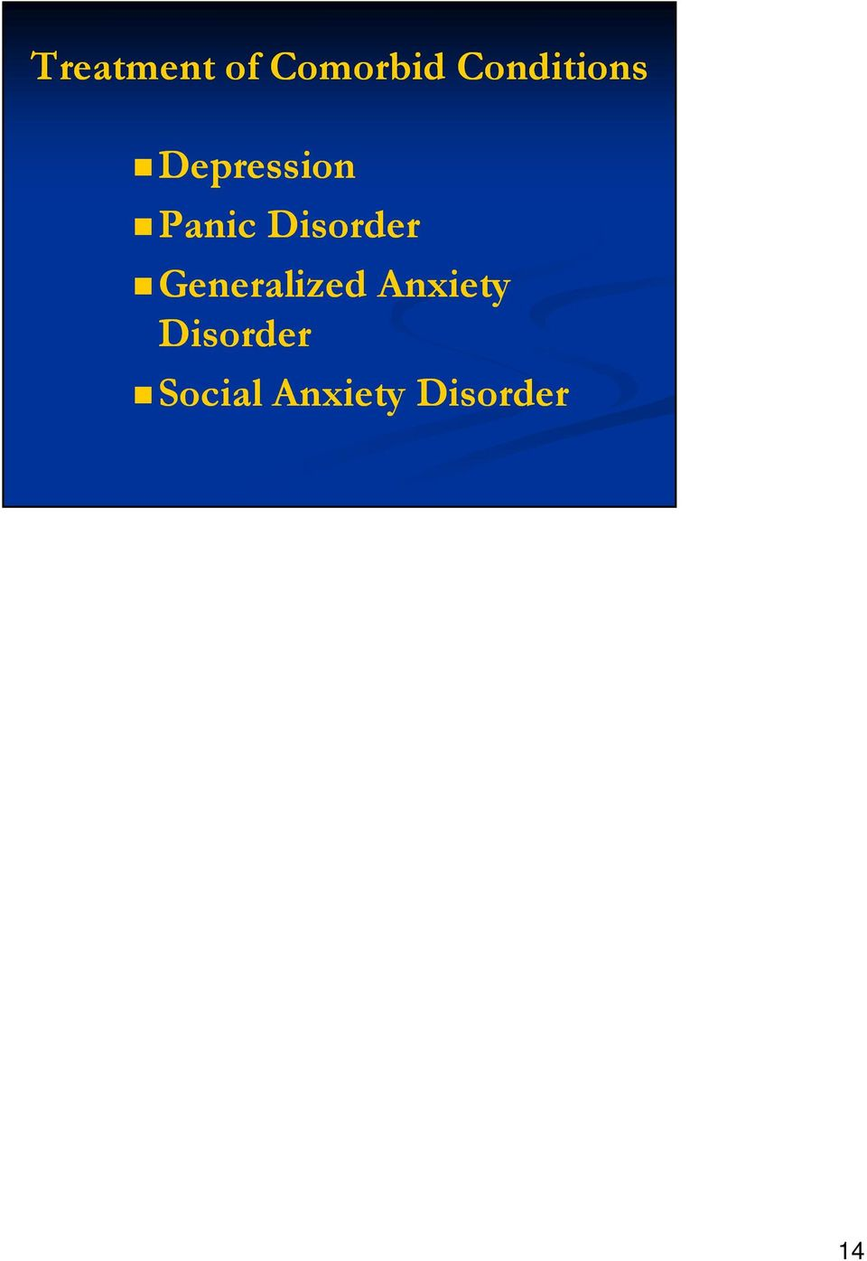 Disorder Generalized Anxiety
