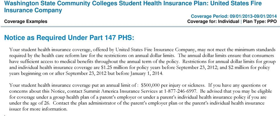 Restrictions for annual dollar limits for group and individual health insurance coverage are $1.