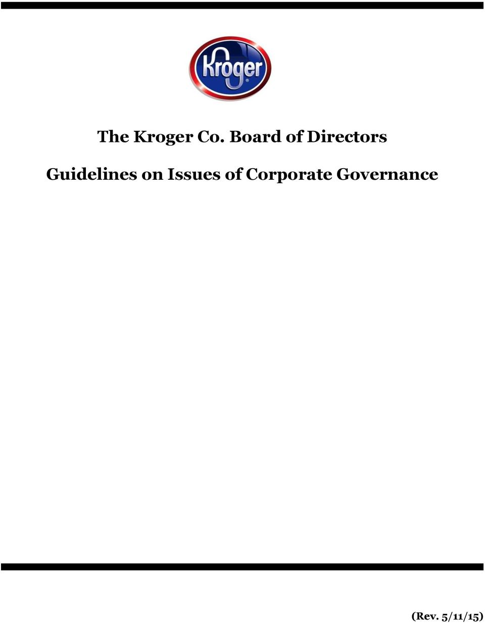Guidelines on Issues of