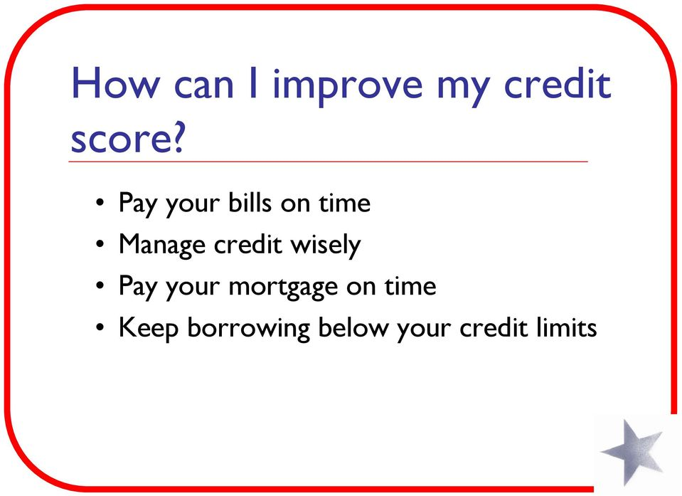 credit wisely Pay your mortgage on