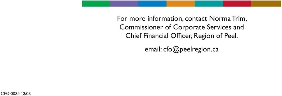 and Chief Financial Officer, Region of
