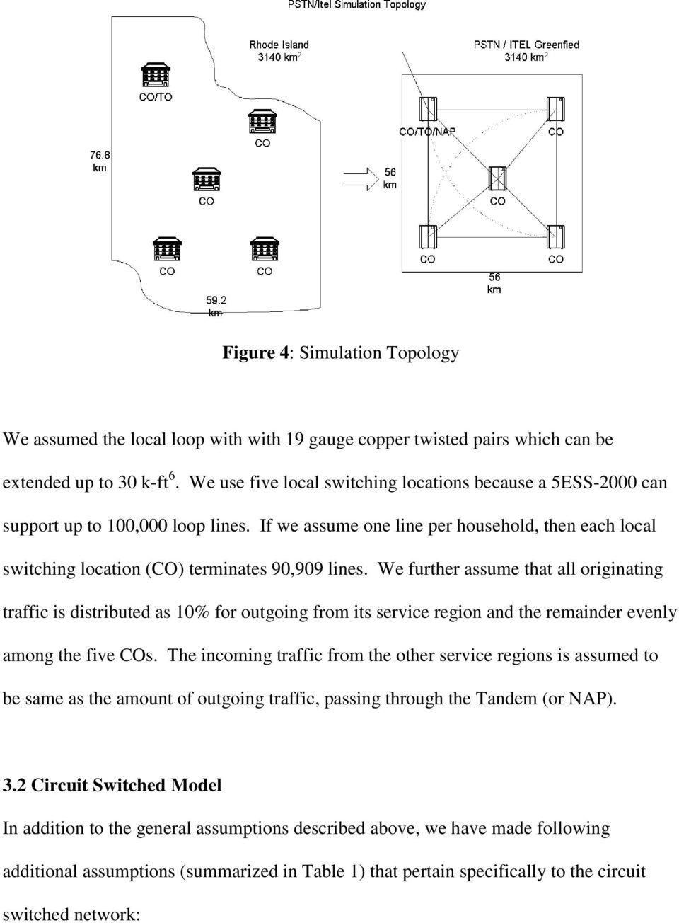 Internet Telephony Or Circuit Switched Which Is Cheaper Switching Diagram We Further Assume That All Originating Traffic Distributed As 10 For Outgoing From Its