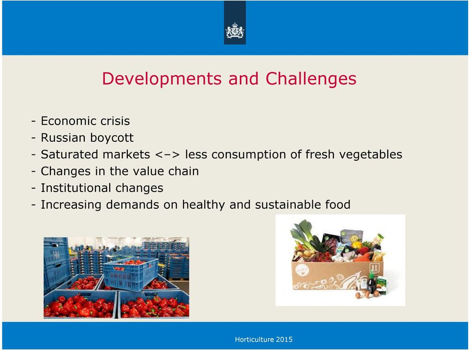 vegetables - Changes in the value chain - Institutional