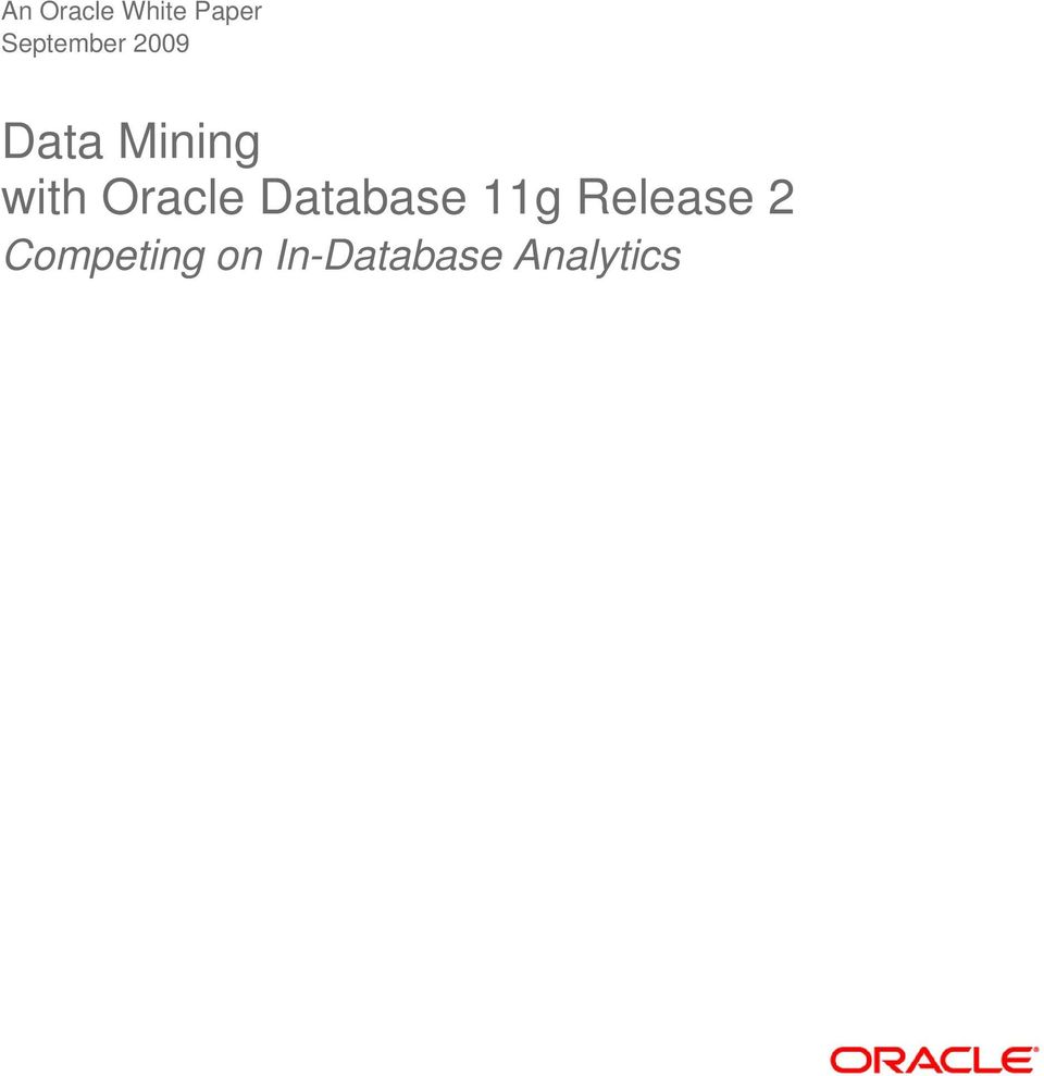 with Oracle Database 11g