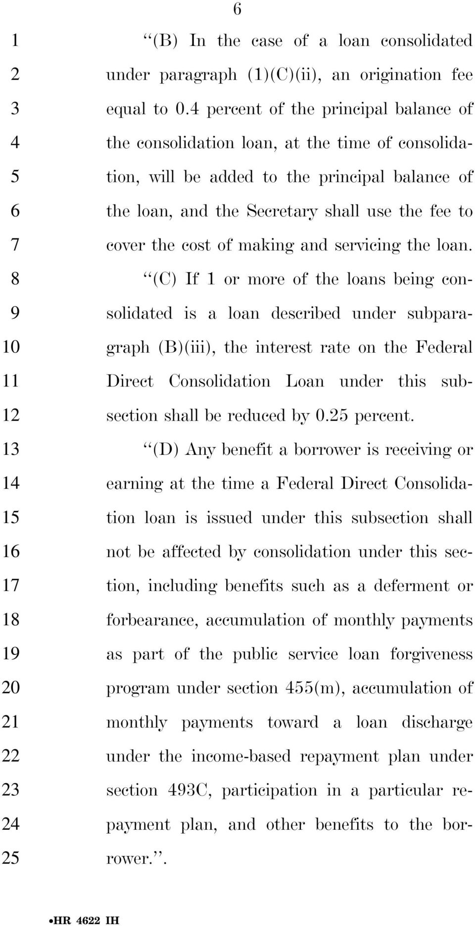 of making and servicing the loan.