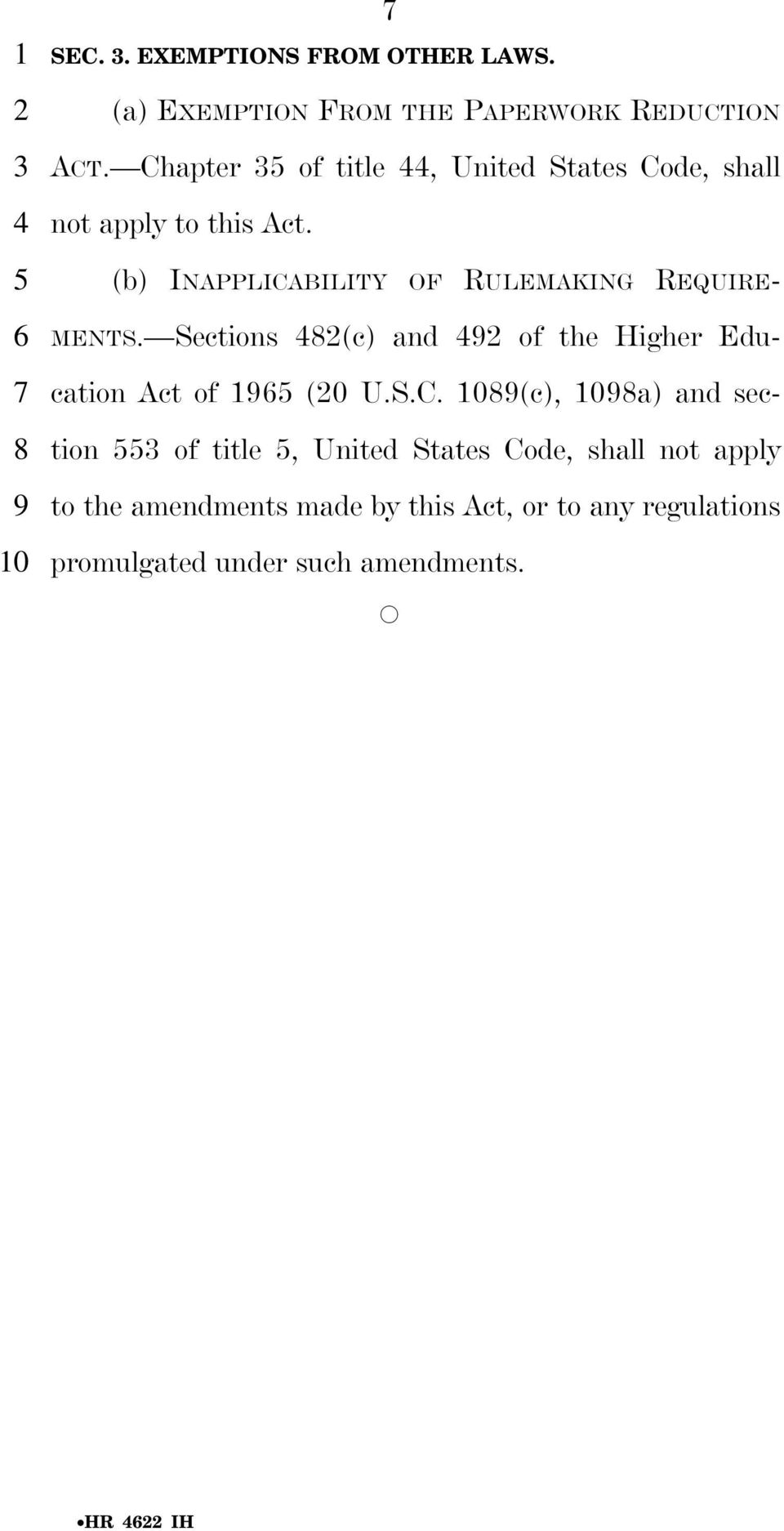 Sections (c) and of the Higher Education Act of (0 U.S.C.