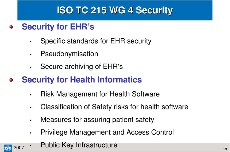 Management for Health Software Classification of Safety risks for health software