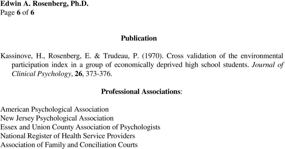 Journal of Clinical Psychology, 26, 373-376.