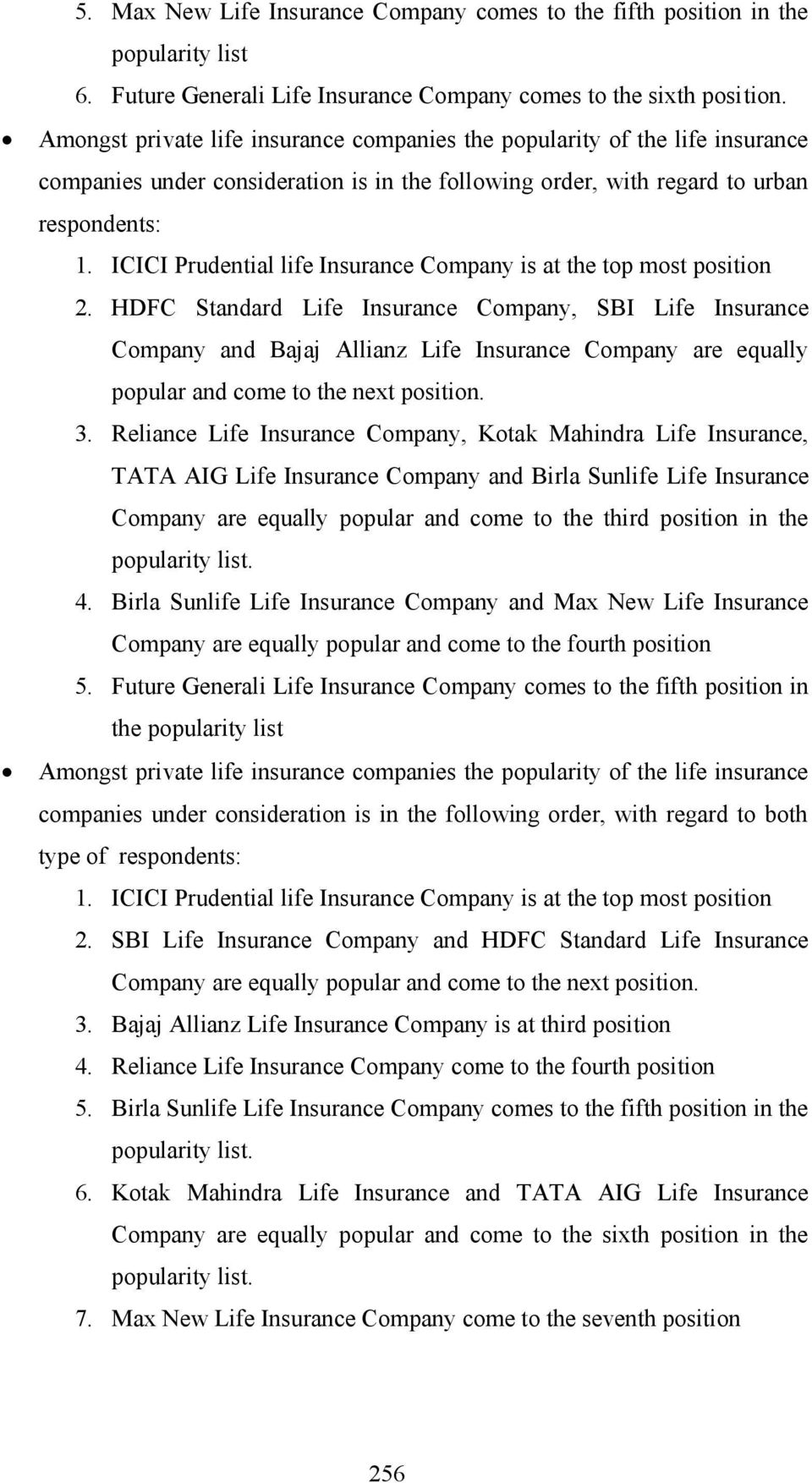 ICICI Prudential life Insurance Company is at the top most position 2.
