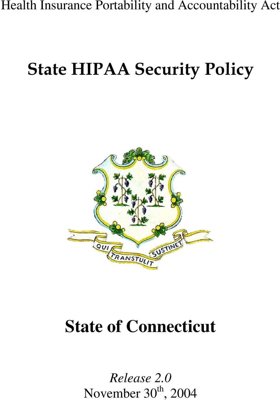Security Policy State of