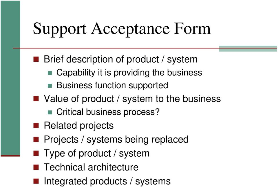 the business Critical business process?