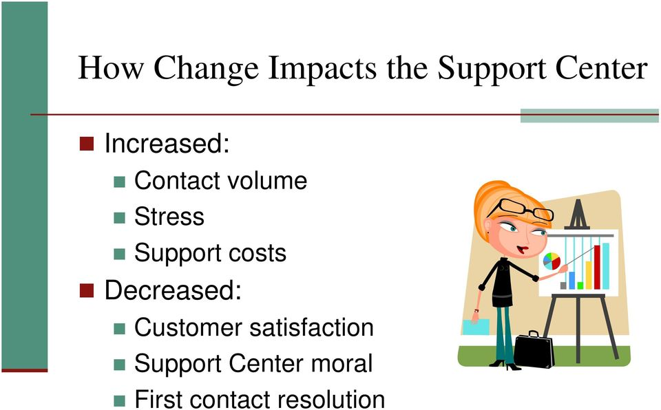 costs Decreased: Customer satisfaction