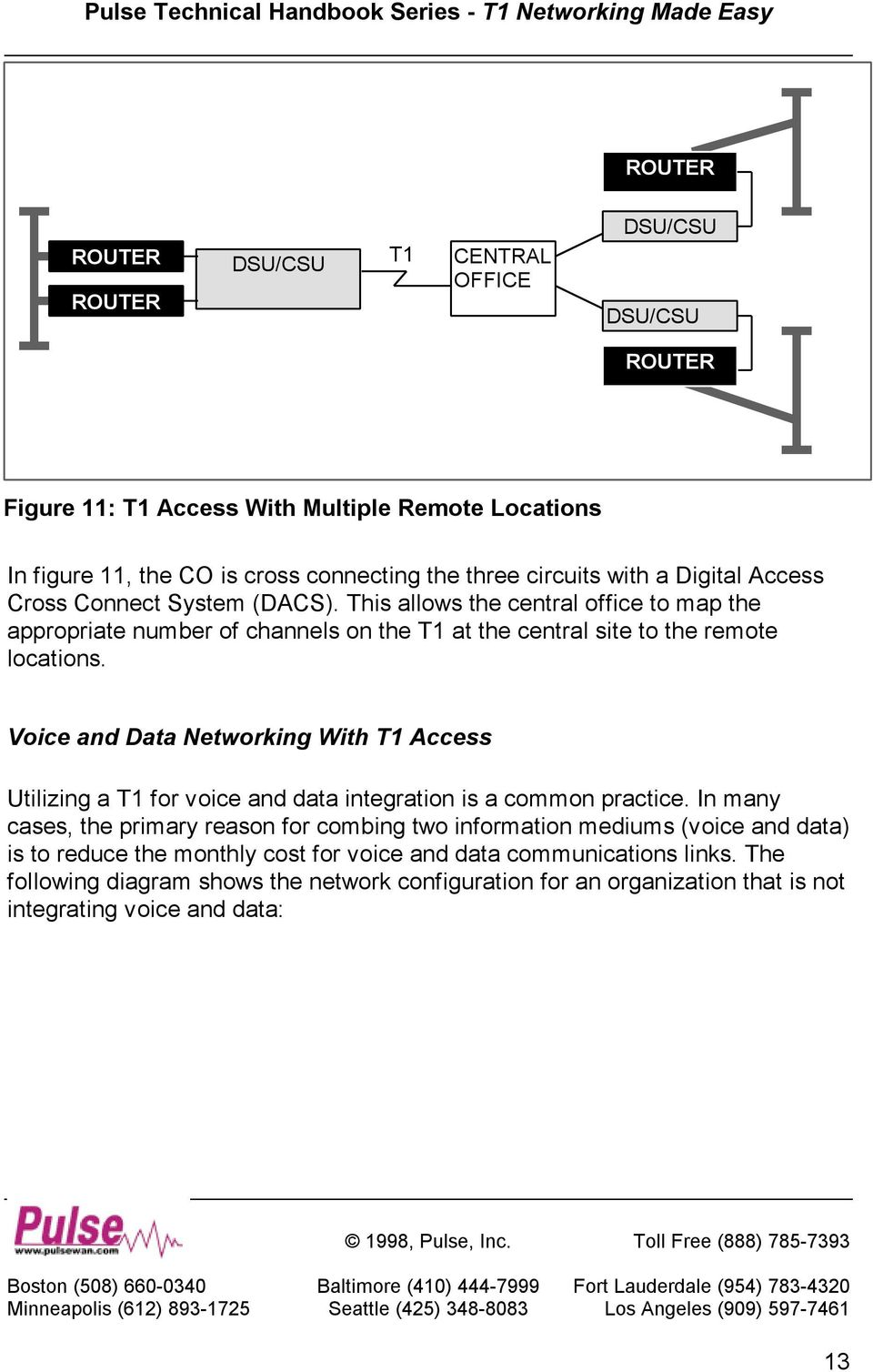 Voice and Data Networking With T1 Access Utilizing a T1 for voice and data integration is a common practice.