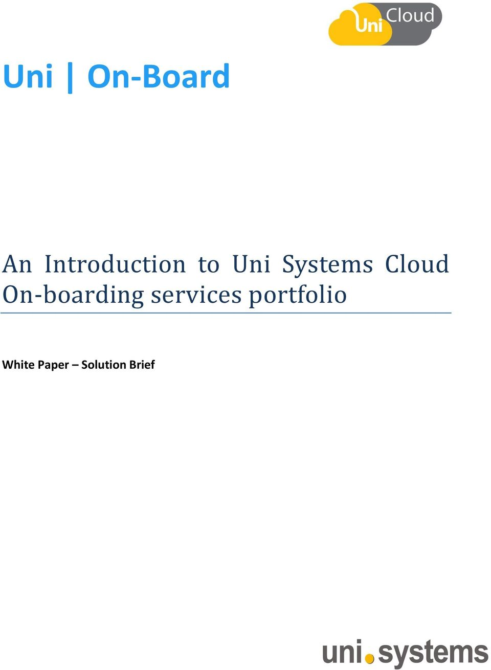 Systems Cloud On-boarding