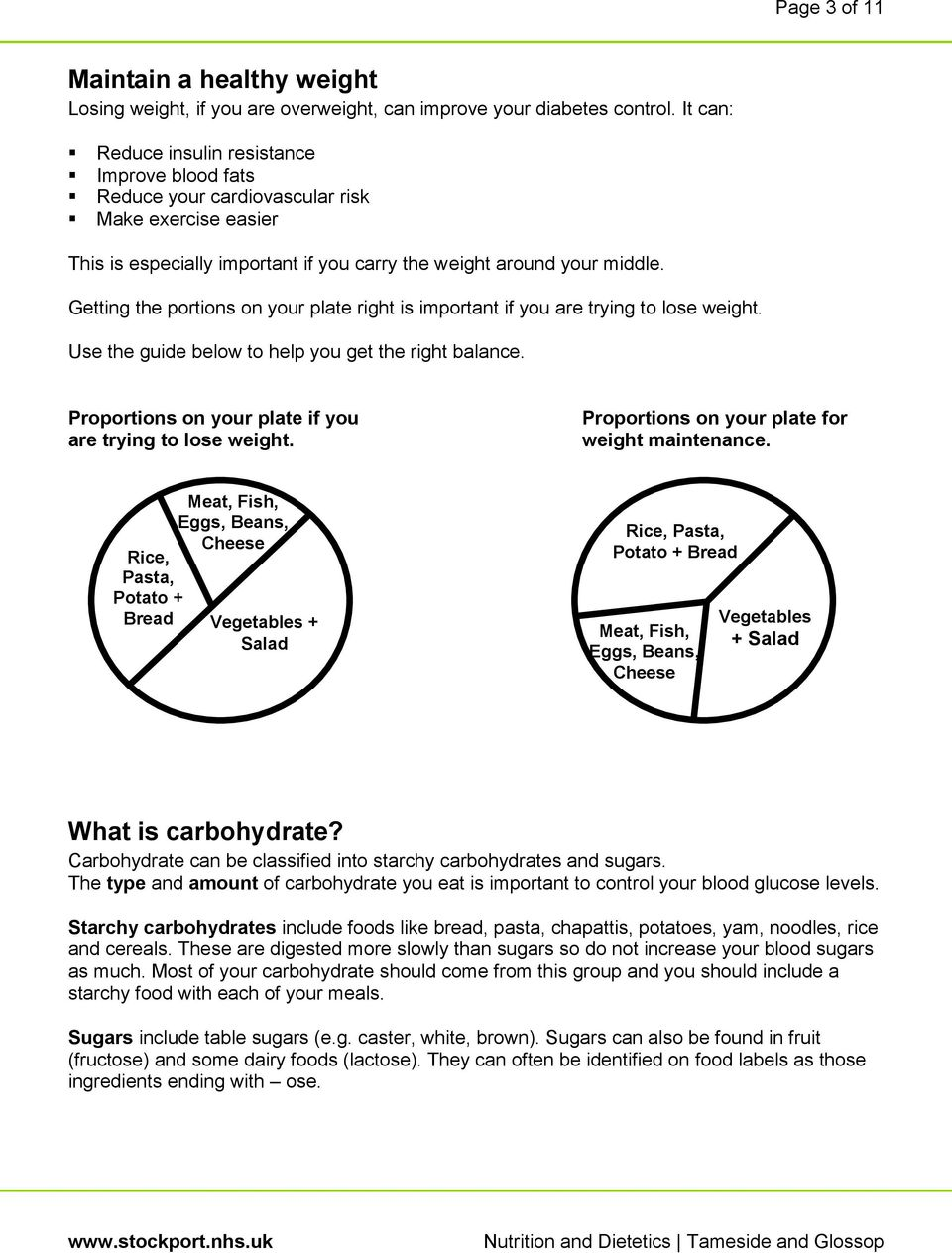 Getting the portions on your plate right is important if you are trying to lose weight. Use the guide below to help you get the right balance.