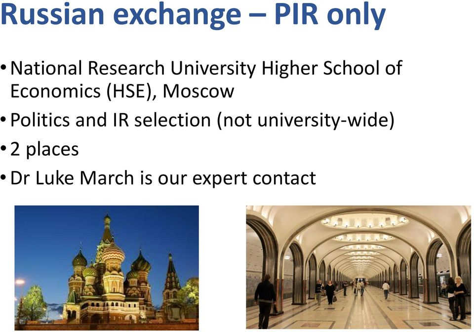 Moscow Politics and IR selection (not
