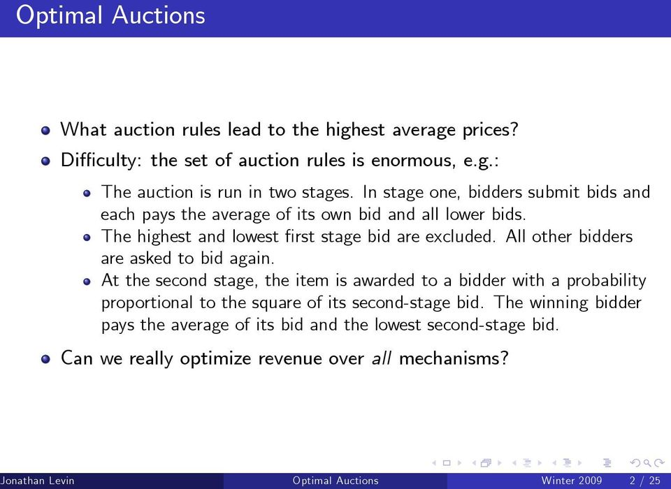 All other bidders are asked to bid again.
