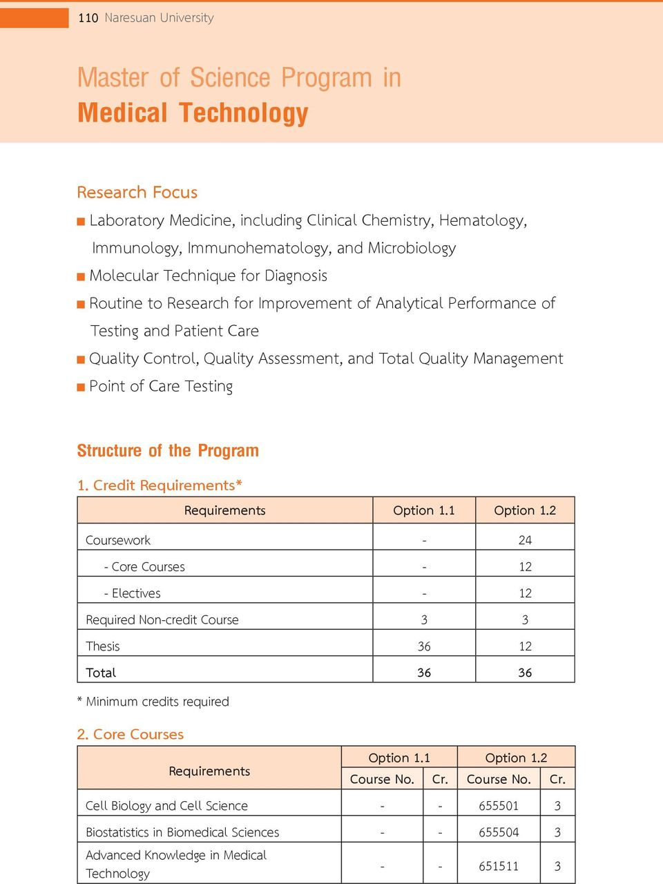 Quality Management Point of Care Testing Structure of the Program 1.