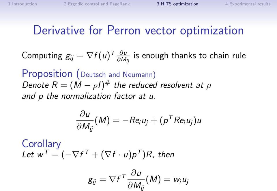 reduced resolvent at ρ and p the normalization factor at u.