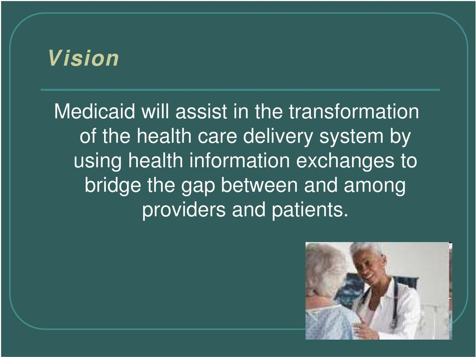 system by using health information exchanges