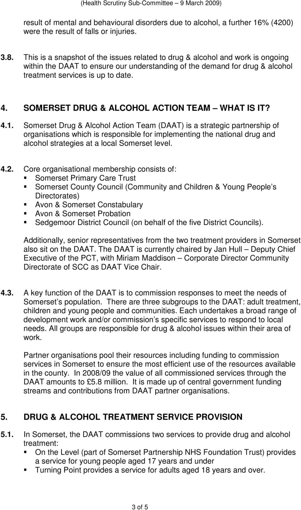 SOMERSET DRUG & ALCOHOL ACTION TEAM WHAT IS IT? 4.1.