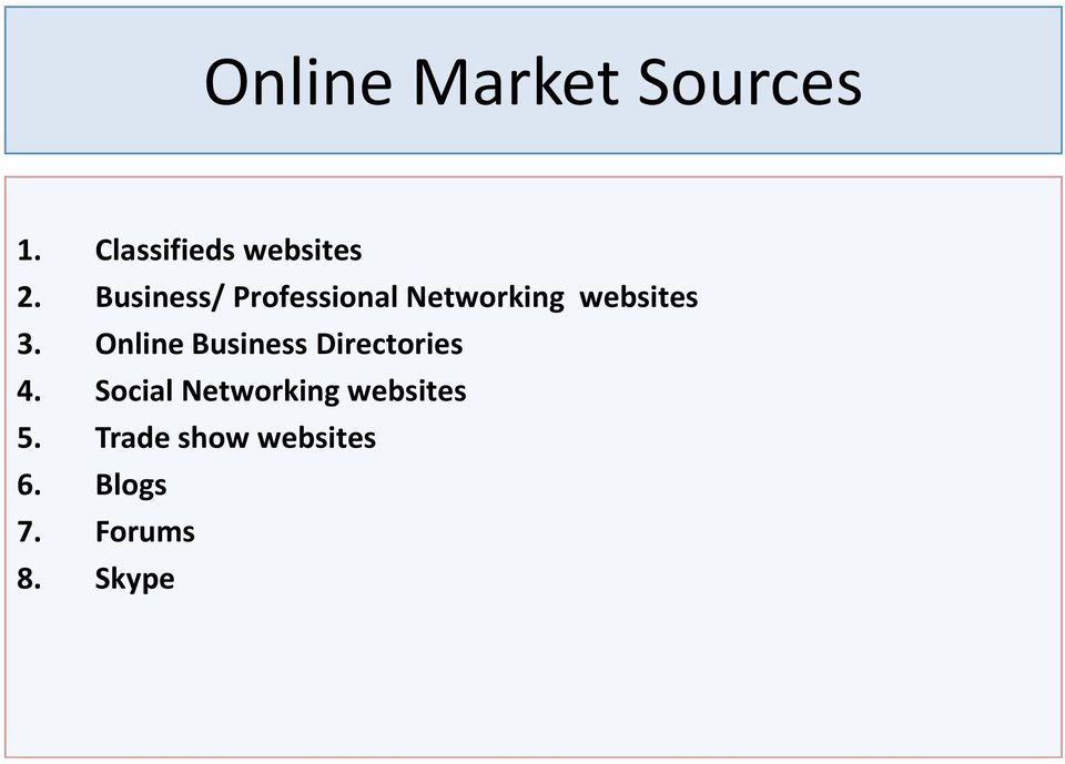 Online Business Directories 4.