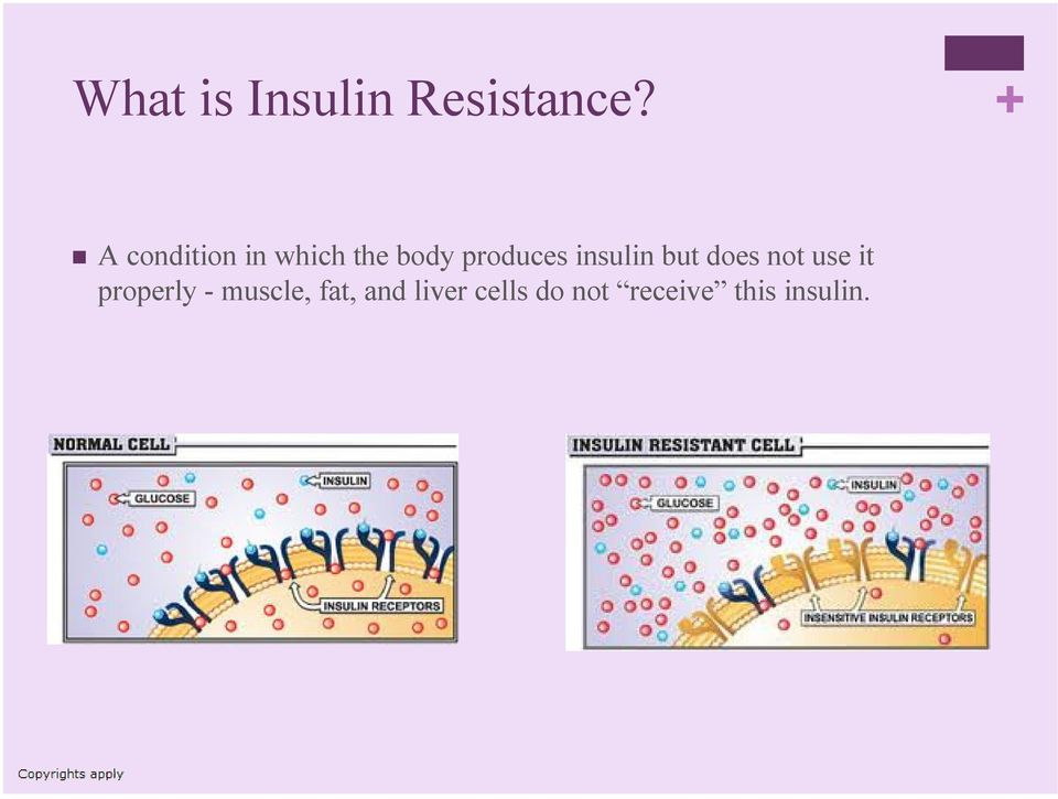 insulin but does not use it properly -