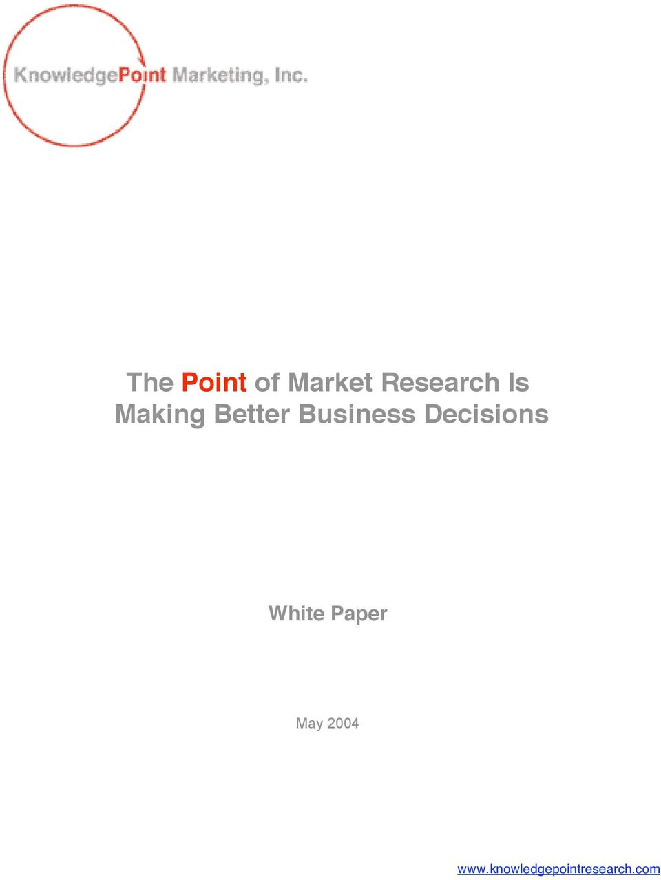 Decisions White Paper May