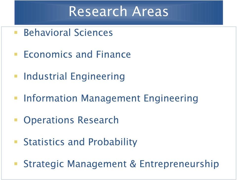 Management Engineering Operations Research