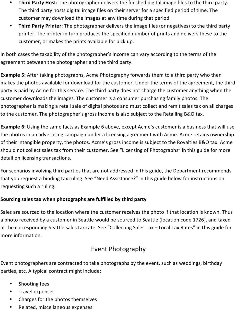 Seattle Sales Tax Rate >> Photography Tax Guide Pdf