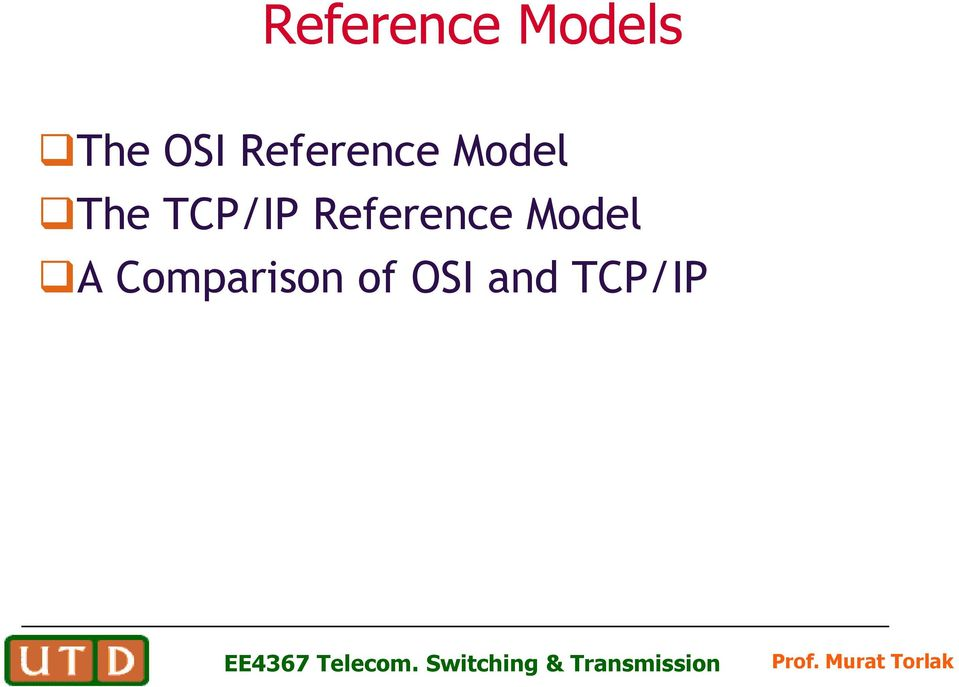 TCP/IP Reference Model A