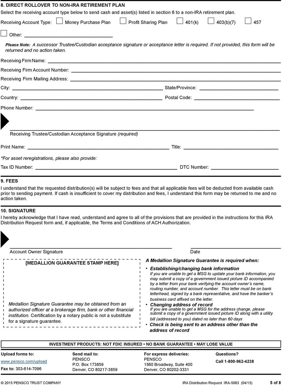 If not provided, this form will be returned and no action taken.