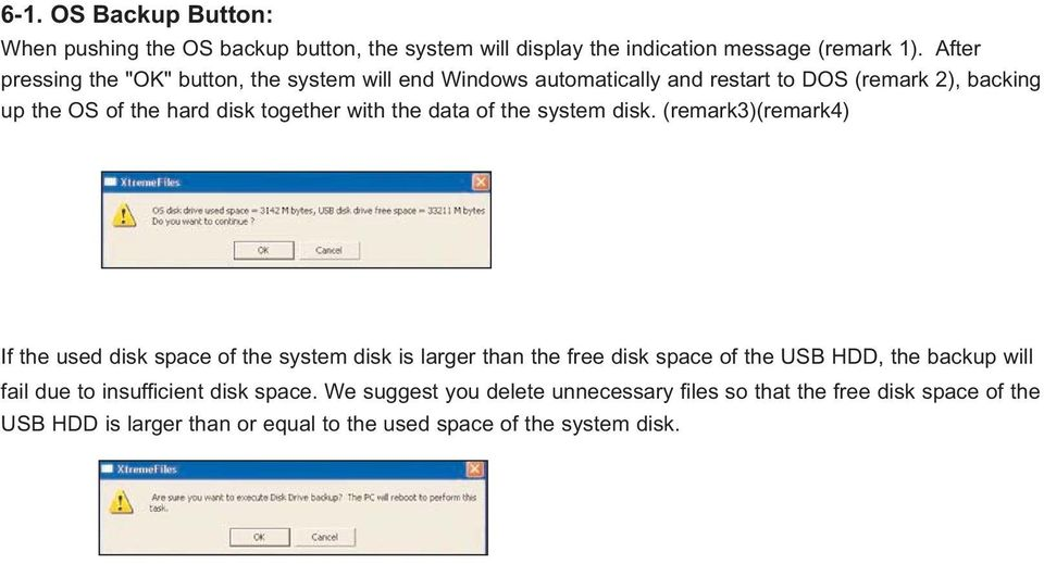 with the data of the system disk.