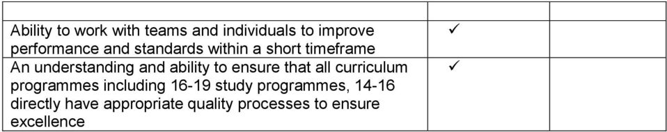 ensure that all curriculum programmes including 16-19 study