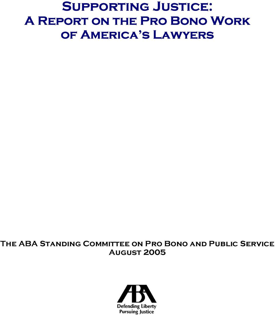 Lawyers The ABA Standing Committee