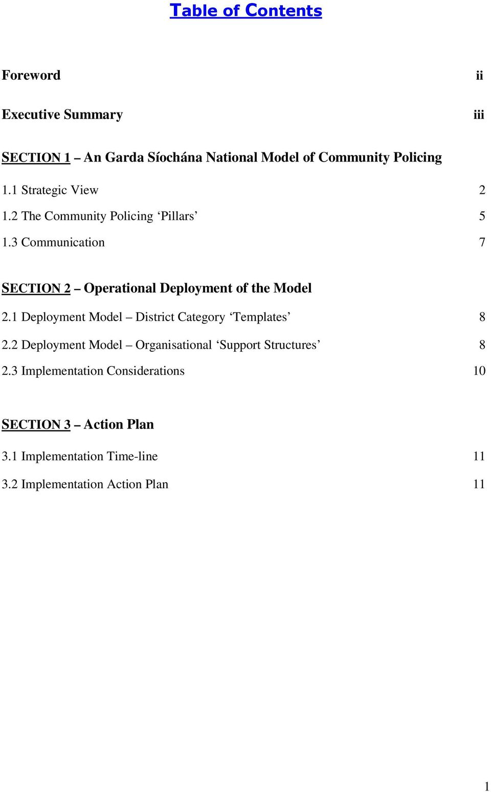 1 Deployment Model District Category Templates 8 2.2 Deployment Model Organisational Support Structures 8 2.