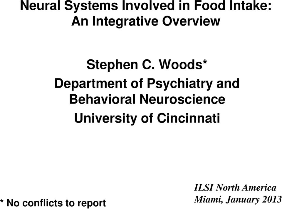 Woods* Department of Psychiatry and Behavioral