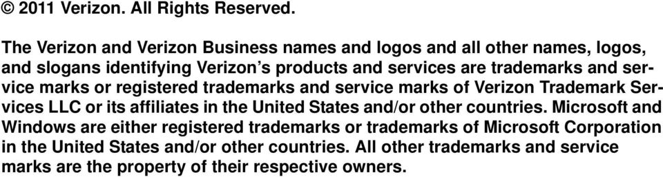 trademarks and service marks or registered trademarks and service marks of Verizon Trademark Services LLC or its affiliates in the United