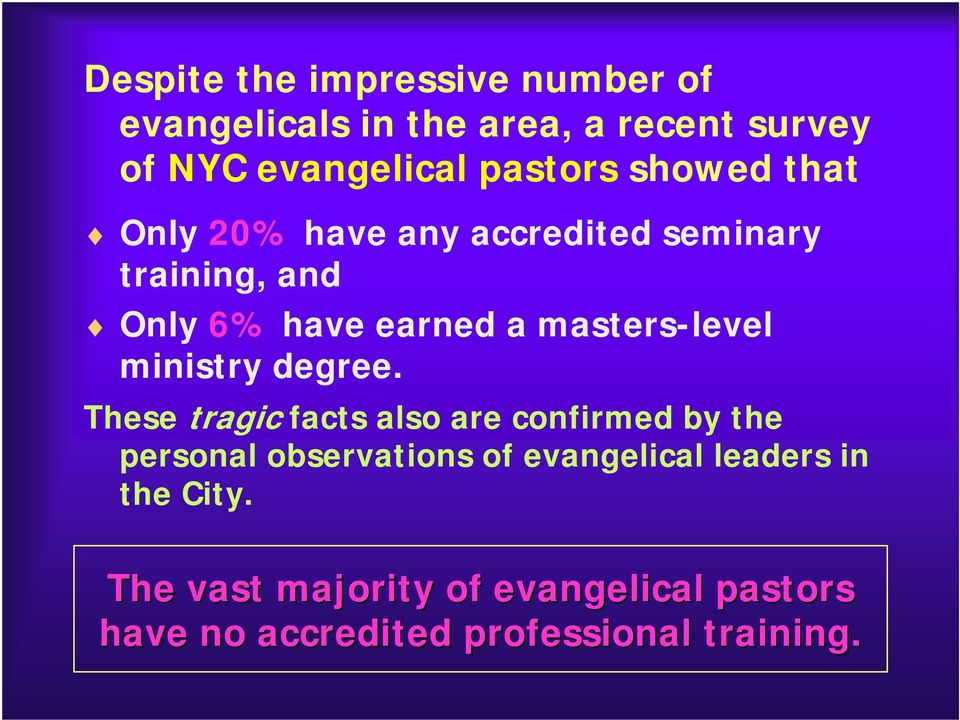masters-level ministry degree.
