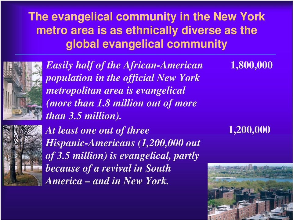 evangelical (more than 1.8 million out of more than 3.5 million).